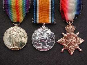 Medals of Moses Knighton Jnr, Pte 1706 Sherwood Rangers