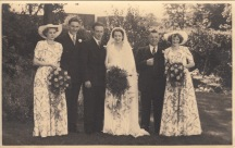 Wedding of Donald and Gwen in 1950