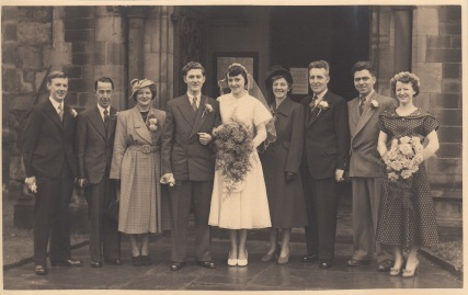 Wedding of Edward and Shirley c 1952