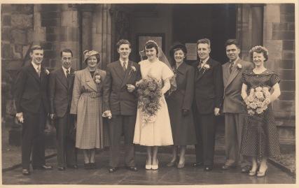 Wedding of Edward and Shirley c 1952