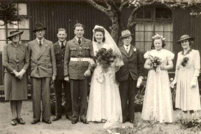 Wedding of John and Kathleen c 1944
