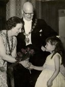 Paternal Grandparents and me - aged about 5 to 6