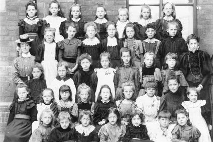 School Class circa 1899, Sarah Fearn top left